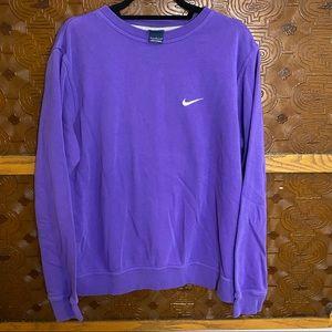 Nike Embroidered Swoosh Crewneck Sweatshirt